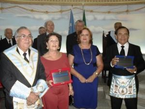 Esq. p/ dir: Irmão Gesmar, cunhadas Eleusa e Neide, Irmão Manoel